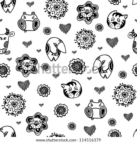 Black and White Baby Stroller Pattern. Towels from Zazzle.com