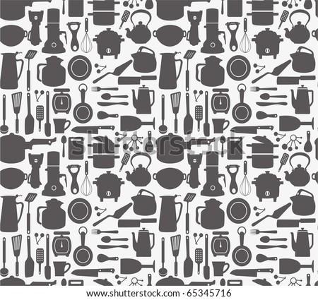 seamless  kitchen pattern