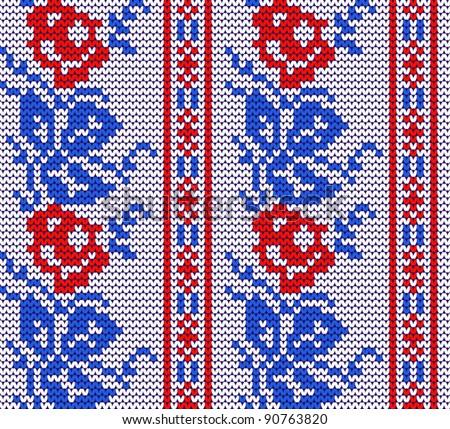 Pattern: Simple Knitted Rose & Leaf - Pop Smear