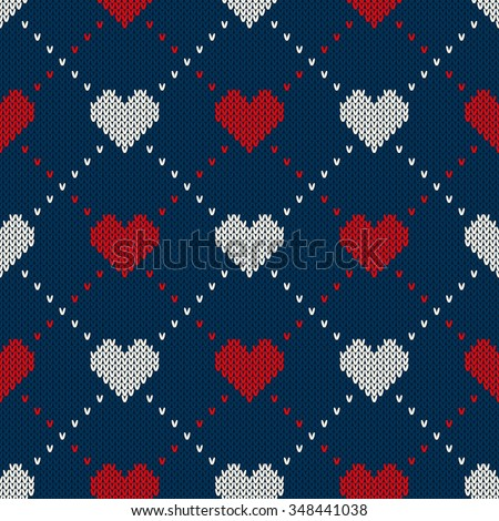 seamless knitted pattern with
