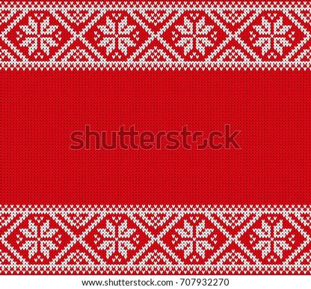 Seamless Knitting Pattern Norwegian Sweater Ornaments Winter