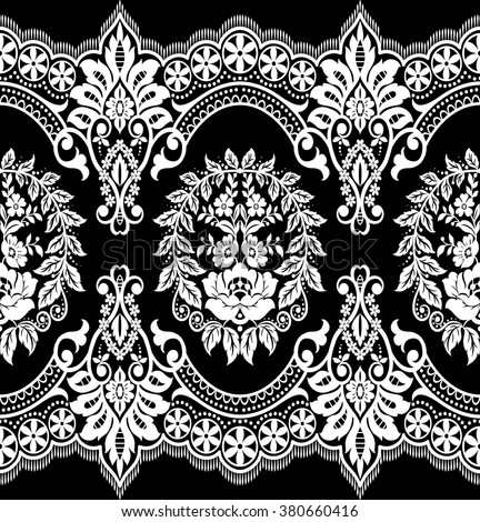 seamless lace pattern  flower