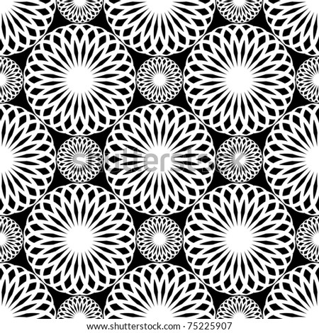 Seamless lacy pattern. Rosette texture. Vector art.