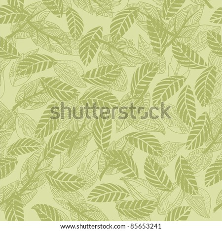 seamless leaf pattern