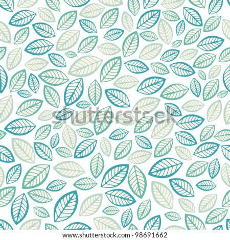 Seamless leaf pattern.