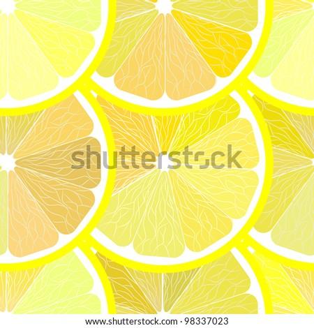 Seamless Lemon Pattern Vector - stock vector