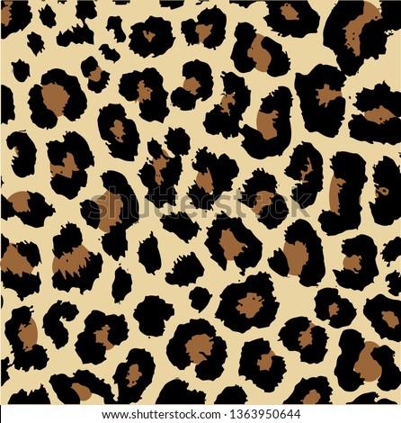 seamless leopard design vector