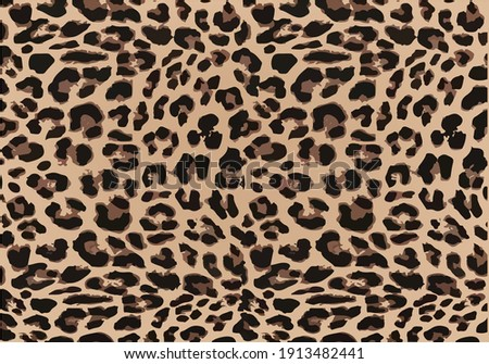 seamless leopard pattern can be