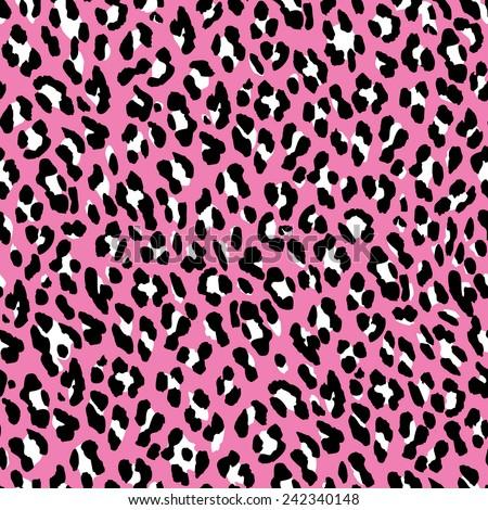 seamless leopard pattern pink