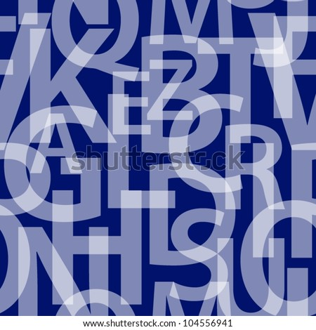 Seamless letters pattern.