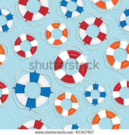 seamless life saver pattern with clipping path