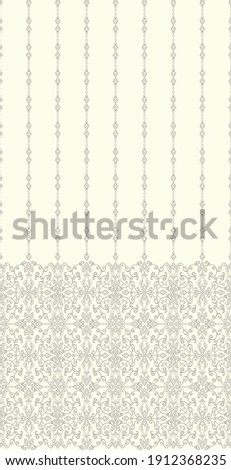 Seamless light background with brown pattern in baroque style. Vector retro illustration. Ideal for printing on fabric or paper for wallpapers, textile, wrapping.  ストックフォト ©