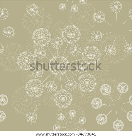seamless light floral background