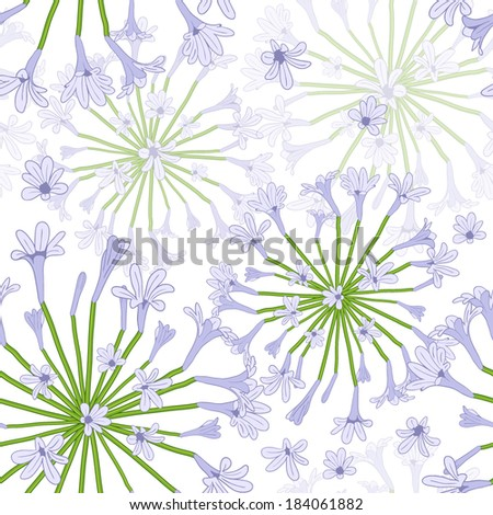 seamless lilac flowers