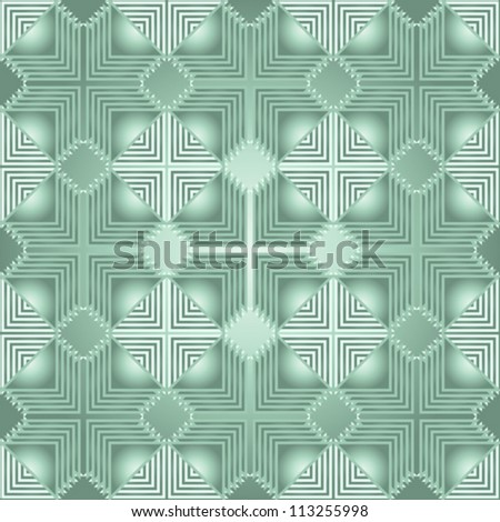 Seamless line pattern imitating circuit board layout, vector illustration - stock vector