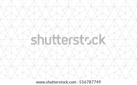 Seamless linear pattern with thin light grey poly lines and polygons on white backdrop. Abstract geometric texture. Stylish background in gray and white colors.