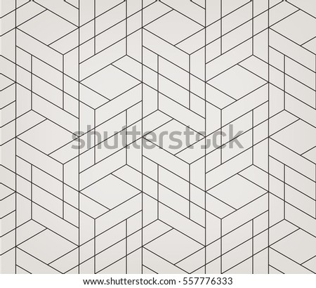 Seamless linear pattern with thin poly lines, polygons and. Abstract geometric texture with crossing thin lines. Stylish background in gray and white colors.