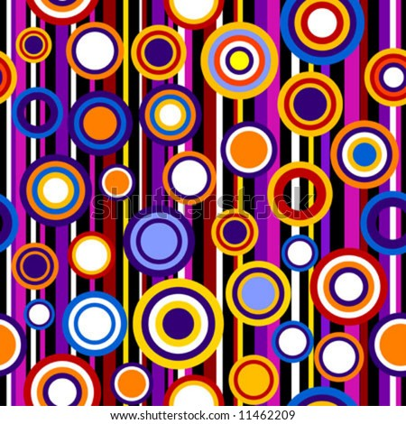 Seamless lines and circle pattern background