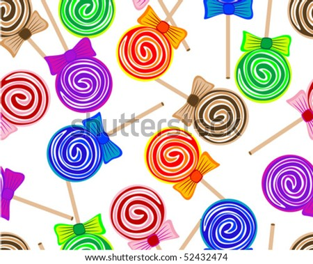 Seamless lollipops background