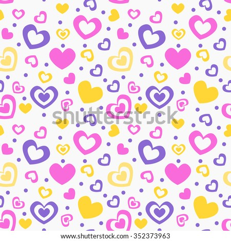 seamless love pattern vector 01