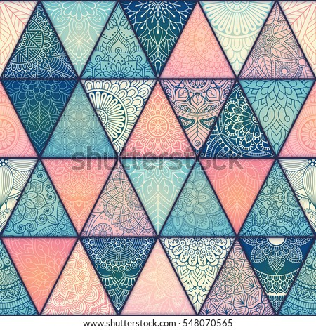 Seamless mandalas pattern. Vintage decorative elements with mandala. Hand drawn mandala background. Islam, Arabic mandala, Indian, mandala ottoman motifs. Perfect for printing on fabric or paper.