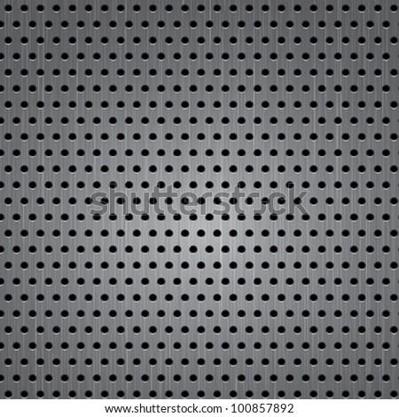 Seamless metal texture background. Vector - stock vector