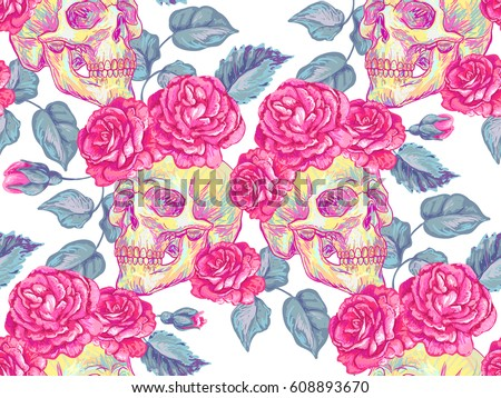 seamless mexican pattern with