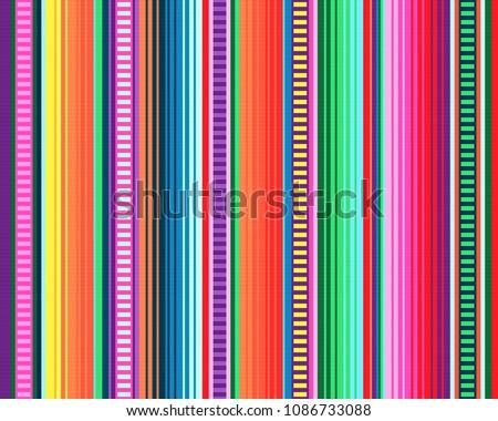 seamless mexican rug pattern. serape stripes vector