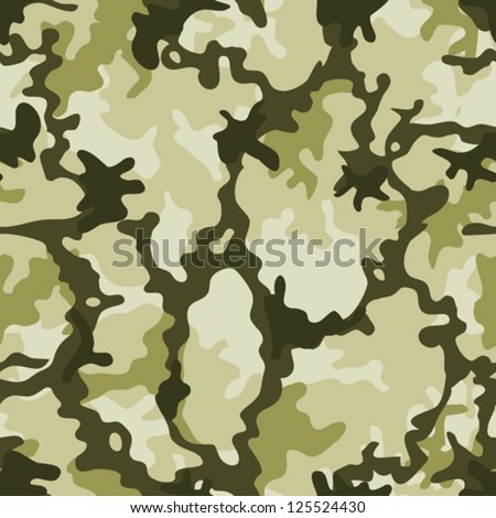 Seamless Military Camouflage Illustration of a military camouflage with green shades for army background wallpapers