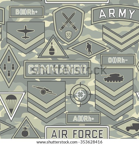 seamless military pattern