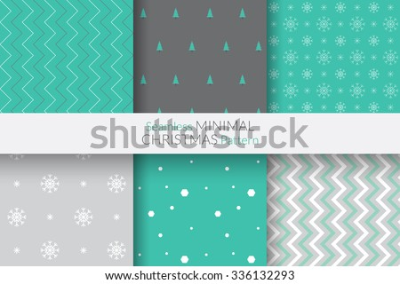 Seamless Minimal Christmas Pattern