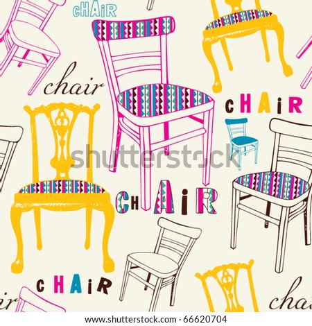 seamless modern chair vector