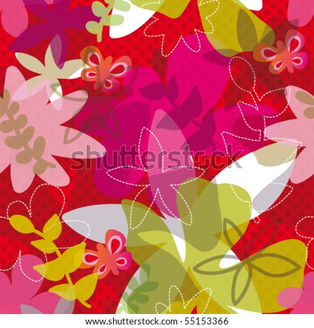 Set of Modern Brown floral pattern vector material 03 - Vector