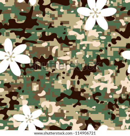 Seamless modern non combat camouflage pattern