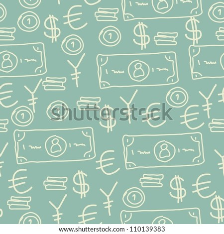 seamless money and currency background