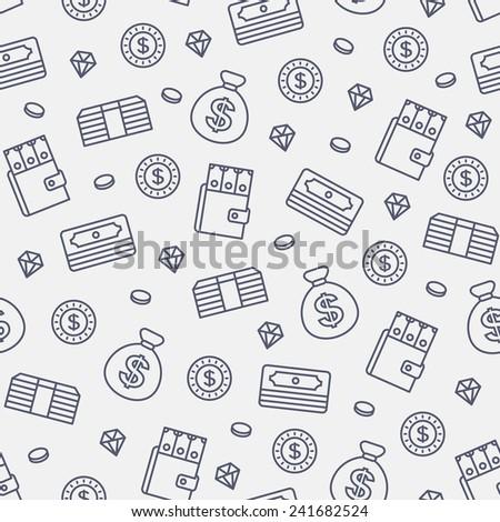 seamless money pattern on white background