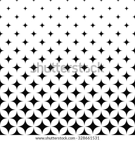 seamless monochrome curved star