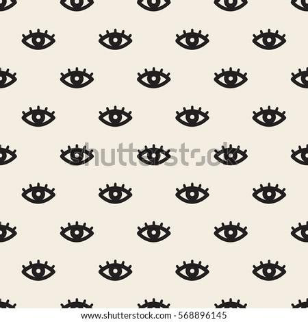seamless monochrome eye pattern