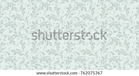 Seamless Monochrome Floral Pattern Background For Textile Wallpapers Wrapping Paper