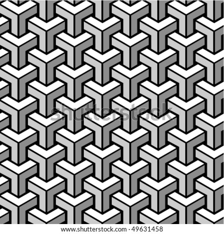 Seamless monochrome geometric ornament