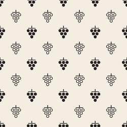 seamless monochrome grape pattern background