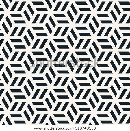 seamless monochrome hexagonal pattern.
