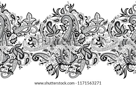 Black And White Paisley Background Download Free Vector Art Stock