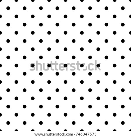 Seamless monochrome polka dot pattern. Dotted background