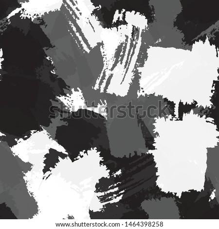 Seamless monochrome vector grunge background