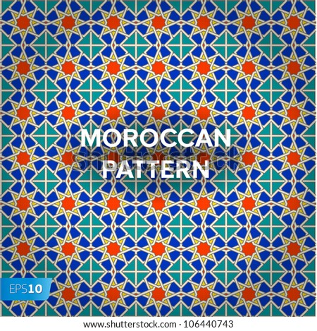Seamless Moroccan pattern background, vector Eps10 image.