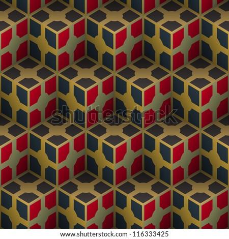 Seamless mosaic pattern. Vector illustration.