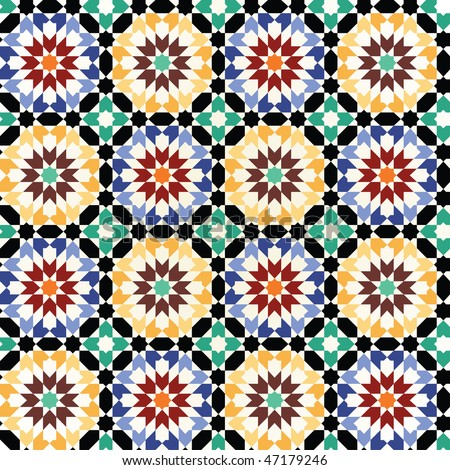 Seamless mosaic tile pattern