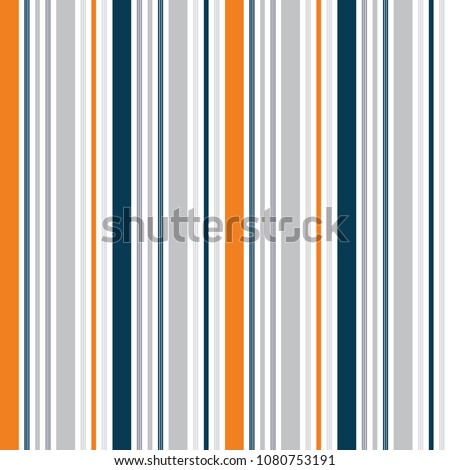 Seamless Multi Color Stripe Allover Print Pattern / Vector Illustration / Global Colors saved with Pattern Swatches