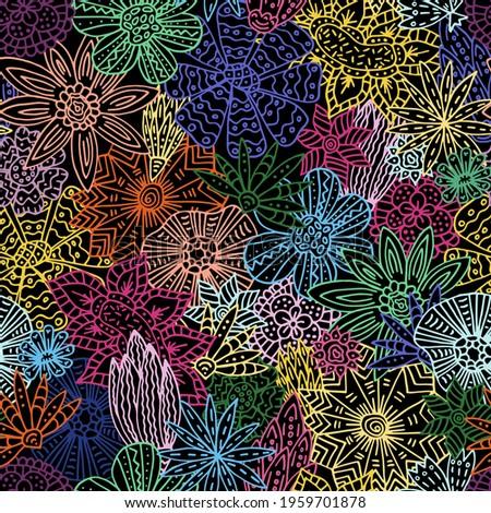 seamless multicolored pattern